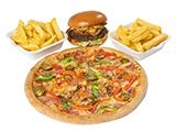 Medium Pizza & Burger Deal image