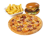 Small Pizza & Burger Deal image
