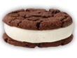 Chocolate Vanilla Ice Cream Sandwich image